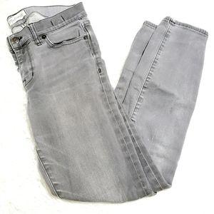 Madewell | Grey Wash Skinny Skinny Ripped Jeans